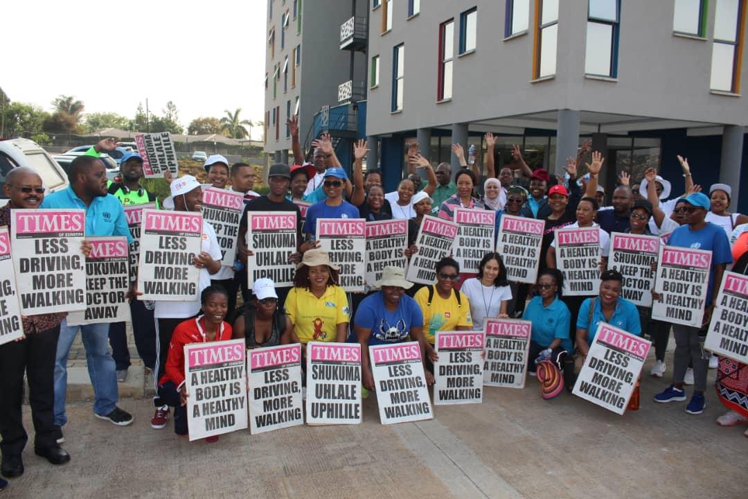 UN Eswatini staff walk the talk