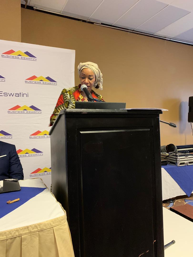 Ms Nathalie Ndongo-Seh addresses Business Eswatini