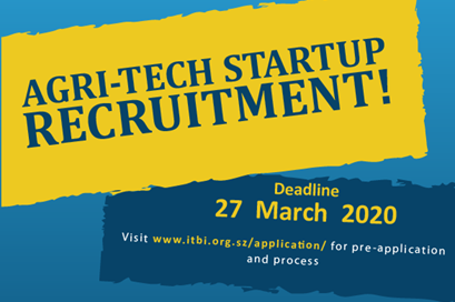 Calling Agri-tech Startups to Apply for a Business Incubation Initiative