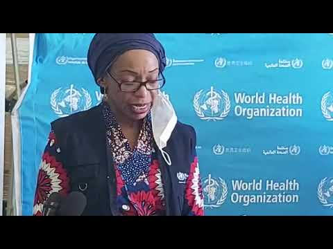 UNRC, Nathalie Ndongo-Seh makes remarks at the handover of medical supplies to COVID-19 Response